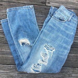 Current / Elliot Boyfriend Tattered Destroy Jeans